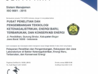 Sertifikat Sistem Manajemen ISO 9001:2015 dari TUV Nord Indonesia