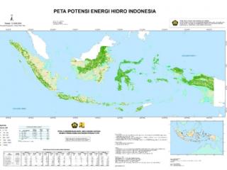 Peta Potensi Energi Hidro Indonesia 2020